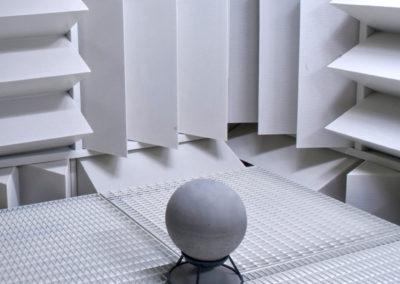 Sphere 360 im schalltoten Raum bei der Lautsprecherentwicklung